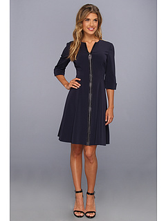 SALE! $191.99 - Save $156 on Elie Tahari Demi Luxe Crepe Dress (Midnight Dream) Apparel - 44.83% OFF $348.00