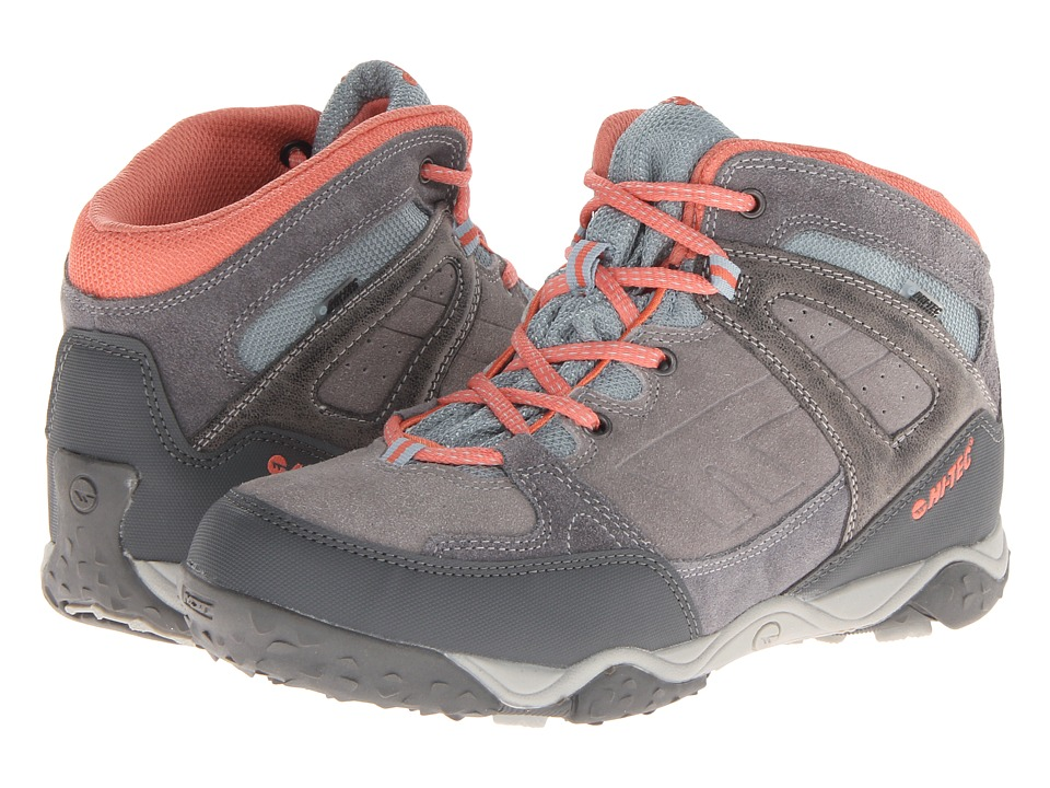 Hi-Tec Kids - Tucano WP Jr (Toddler/Litte Kid/Big Kid) (Graphite/Grey/Peachy) Girl's Shoes
