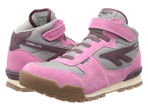 Hi-Tec Kids - Sierra Lite Original Jr (Toddler/Litte Kid/Big Kid) (Bubbalicious/Grey/Pot) Girls Shoes