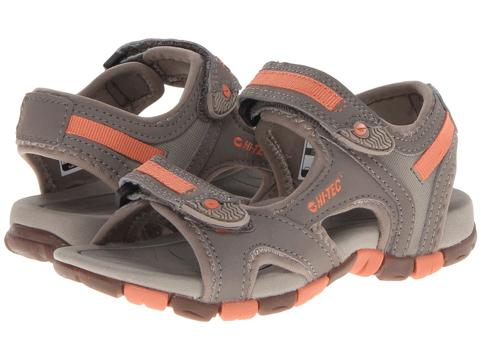 Hi-Tec Kids - GT Strap Jr (Toddler/Litte Kid/Big Kid) (Grey/Warm Grey/Peachy) Girls Shoes