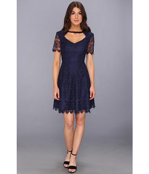 ABS Allen Schwartz - Chandelier Lace Dress w/ Cutout Bodice (Ink) Women's Dress