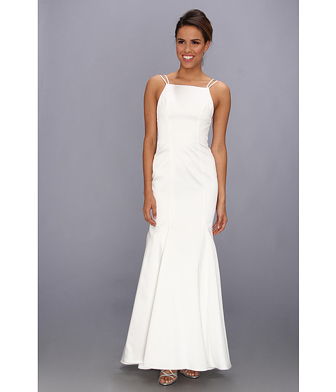 ABS Allen Schwartz - Double Strap Open Back Mermaid Dress (Off White) Women
