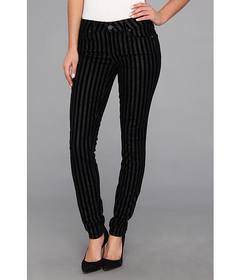 Paige - Verdugo Ultra Skinny in Flocked Stripe (Flocked Stripe) Women