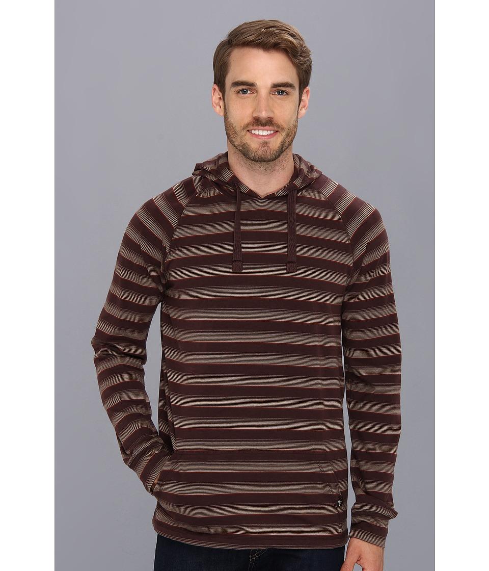 Prana - Momentum Hoodie (Brown) Men's Long Sleeve Pullover
