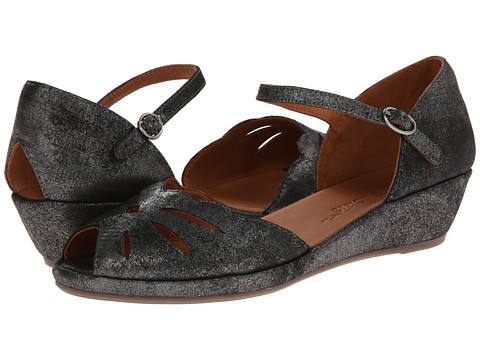 Gentle Souls - Lily Moon (Graphite Metallic Suede) Women's Wedge Shoes