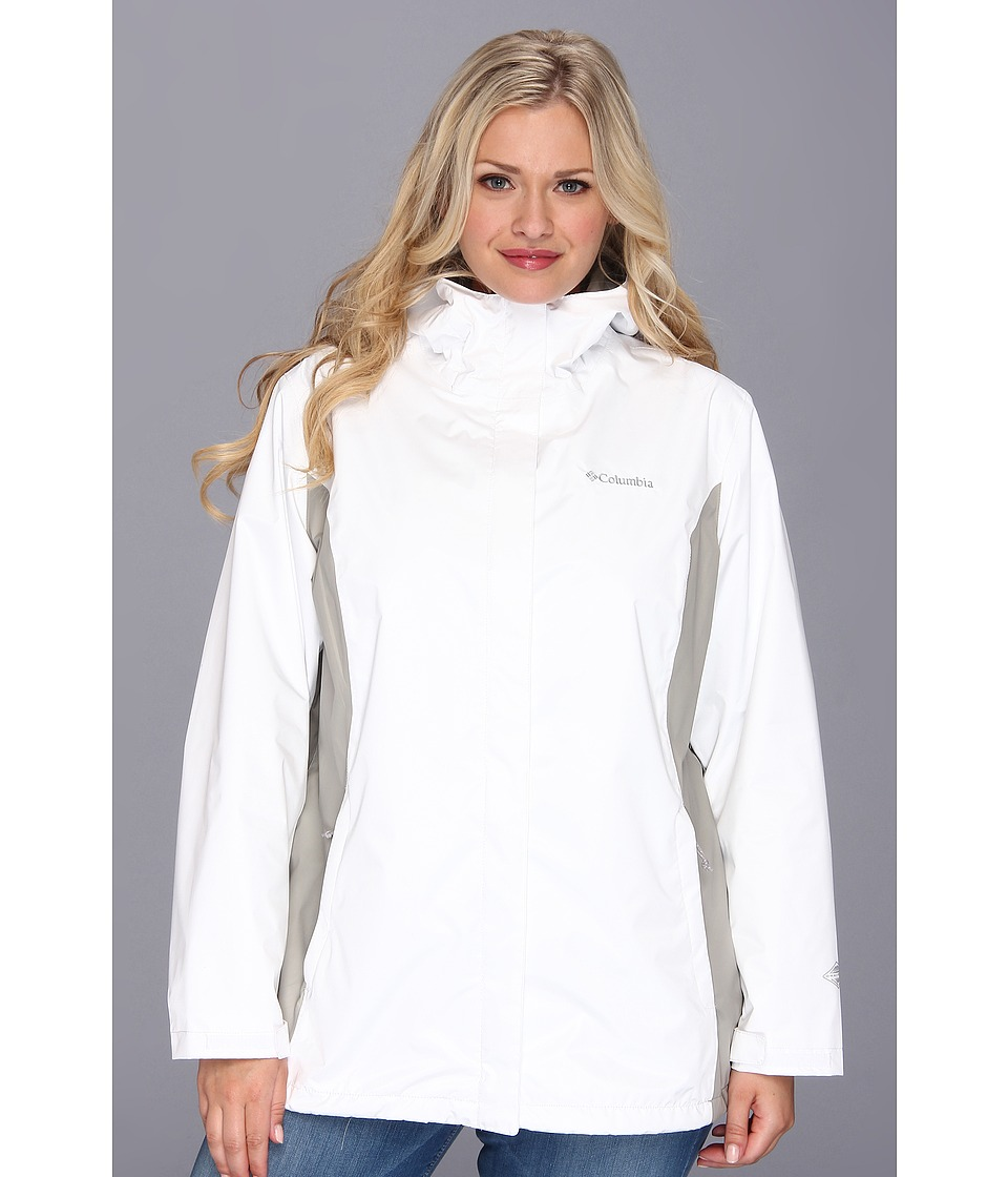 Columbia - Plus Size Arcadia II Jacket (White/Flint Grey) Women's Coat