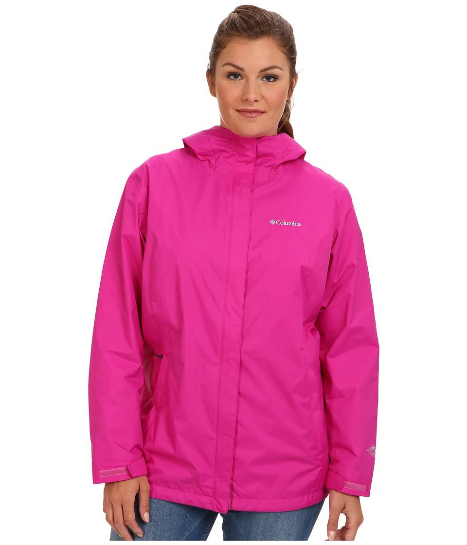 Columbia - Plus Size Arcadia II Jacket (Groovy Pink) Women's Coat