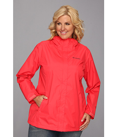 Columbia - Plus Size Arcadia II Jacket (Red Hibiscus) Women