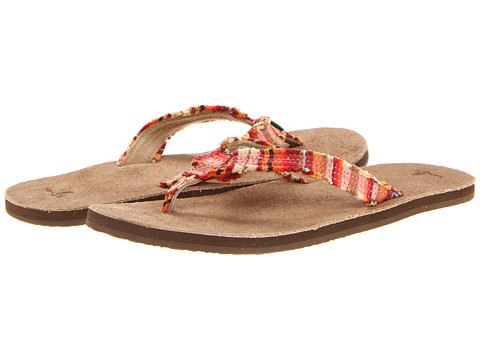 Sanuk - Fraidy Cat (Coral Poncho) Women's Sandals