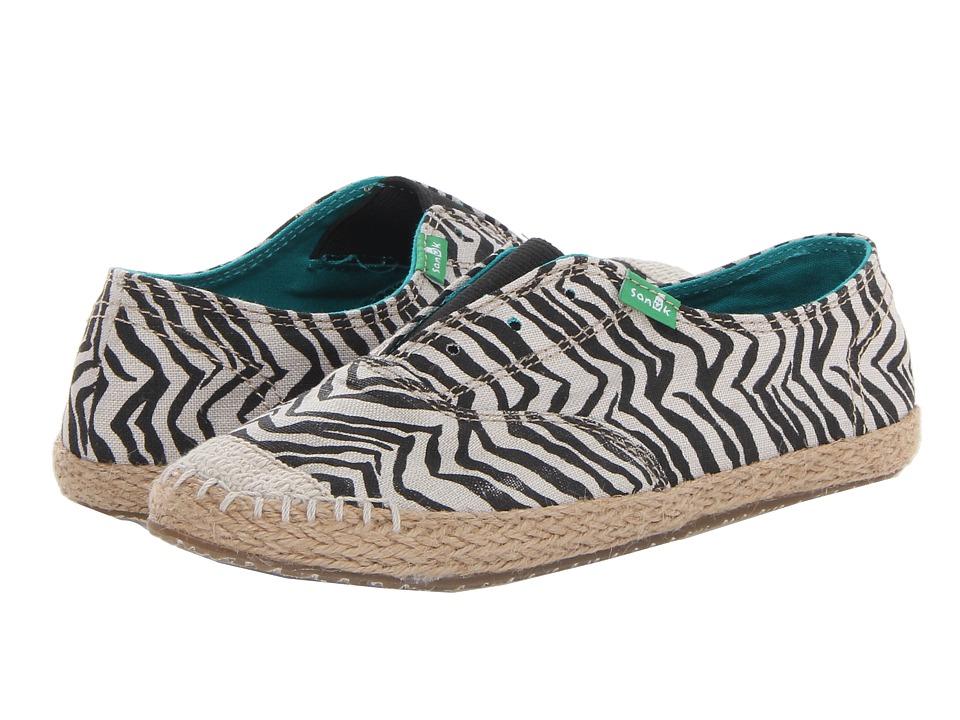 Sanuk - Runaround Jute (Zebra) Women