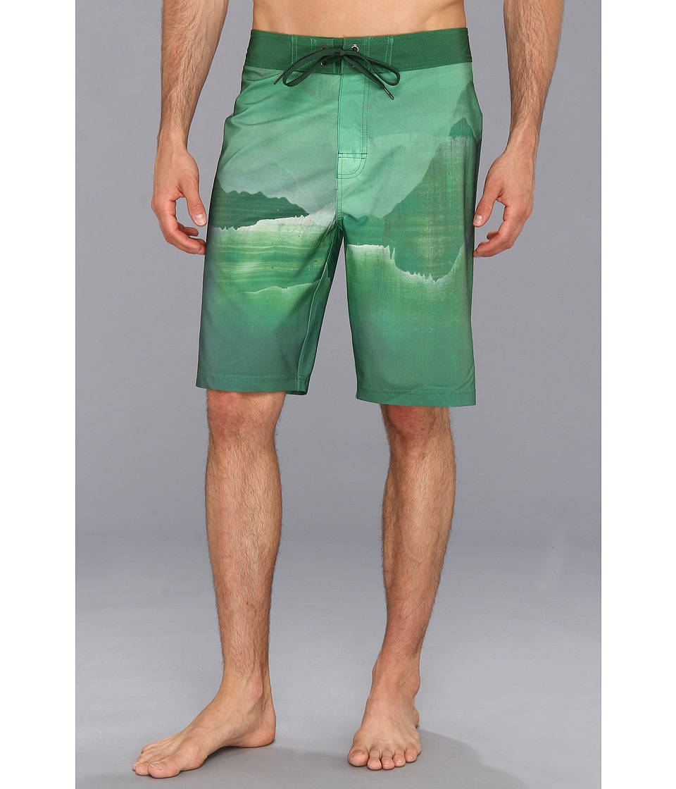 Prana - Mountain Boardshort (Green) Men's Swimwear