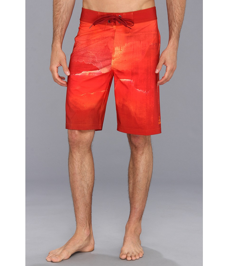 Prana - Mountain Boardshort (Red) Men's Swimwear