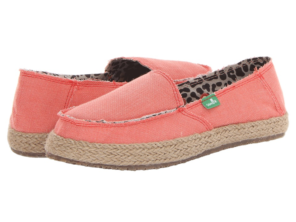 Sanuk - Fiona (Coral) Women's Slip on Shoes