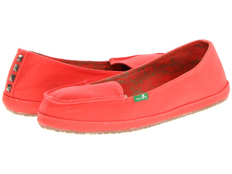 Sanuk - Tailspin (Coral) Women's Slip on Shoes