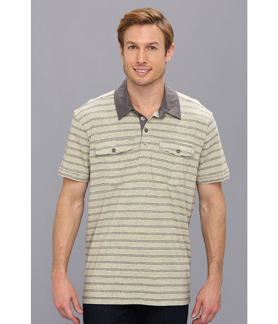 Prana - De Silva Polo (Buttermilk) Men's Short Sleeve Pullover
