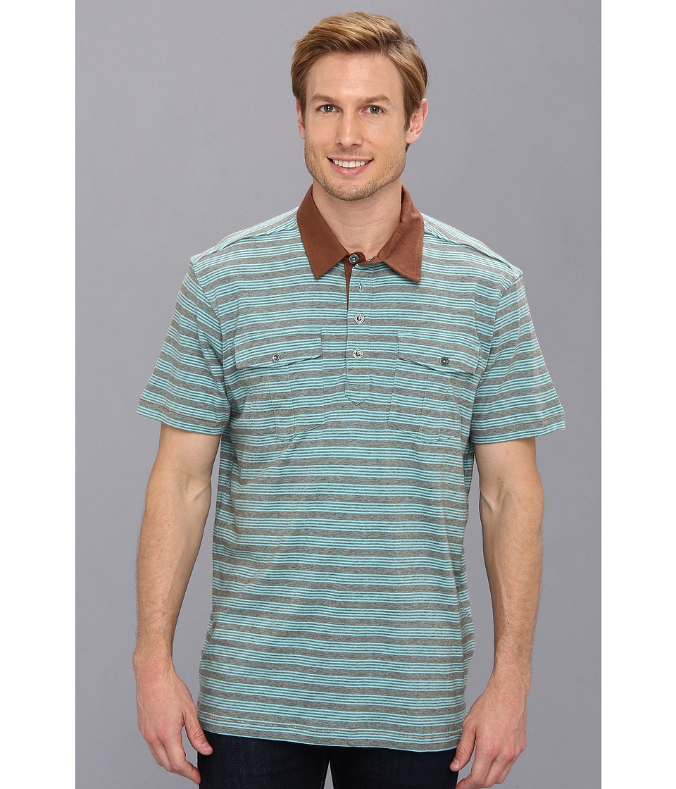 Prana - De Silva Polo (Pinecone) Men's Short Sleeve Pullover