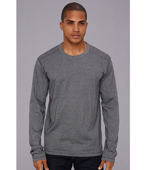 Prana - L/S Keller Crew (Grey) Men's Long Sleeve Pullover
