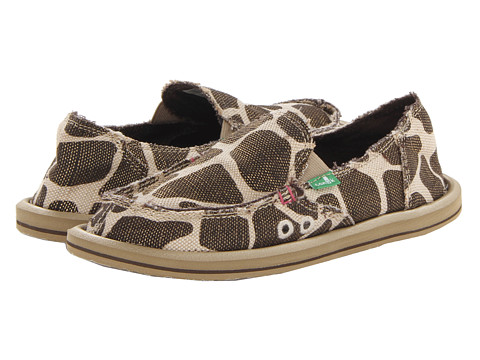 Sanuk - On The Prowl (Metallic Giraffe) Women's Slip on Shoes