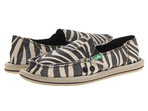 Sanuk - On The Prowl (Metallic Zebra) Women's Slip on Shoes