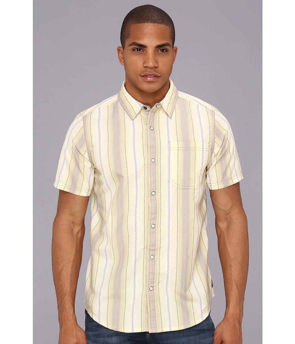 Prana - S/S Cozumel Shirt (Khaki) Men's Short Sleeve Button Up