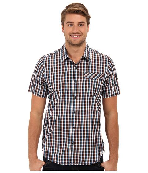 Prana - S/S Arrow Shirt (Blue Ash) Men's Short Sleeve Button Up