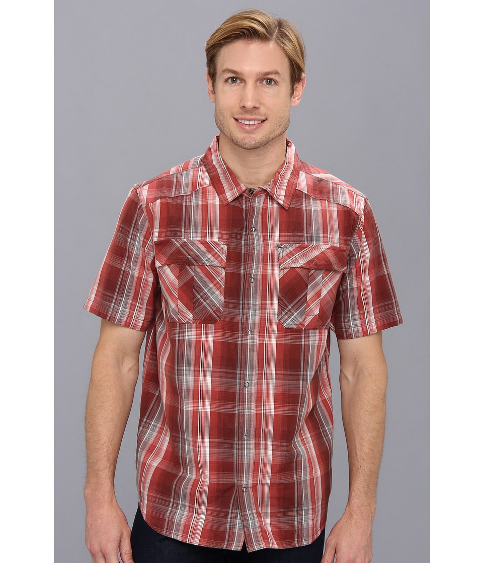 Prana - S/S Midas Shirt (Raisin) Men's Short Sleeve Button Up