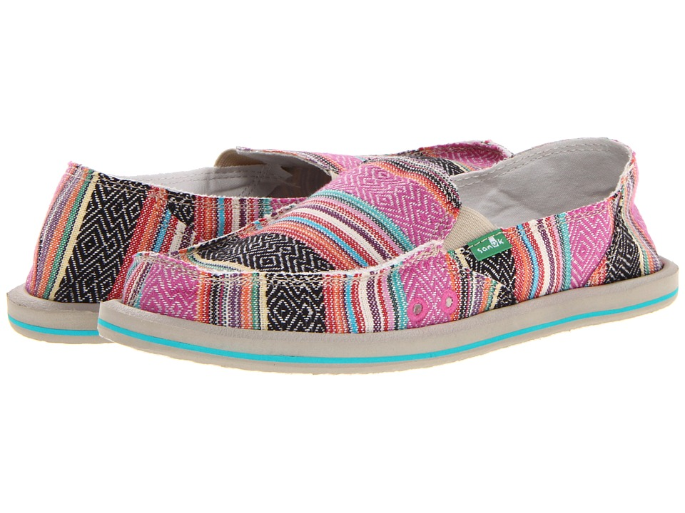 Sanuk - Donna (Pink Poncho) Women's Slip on  Shoes