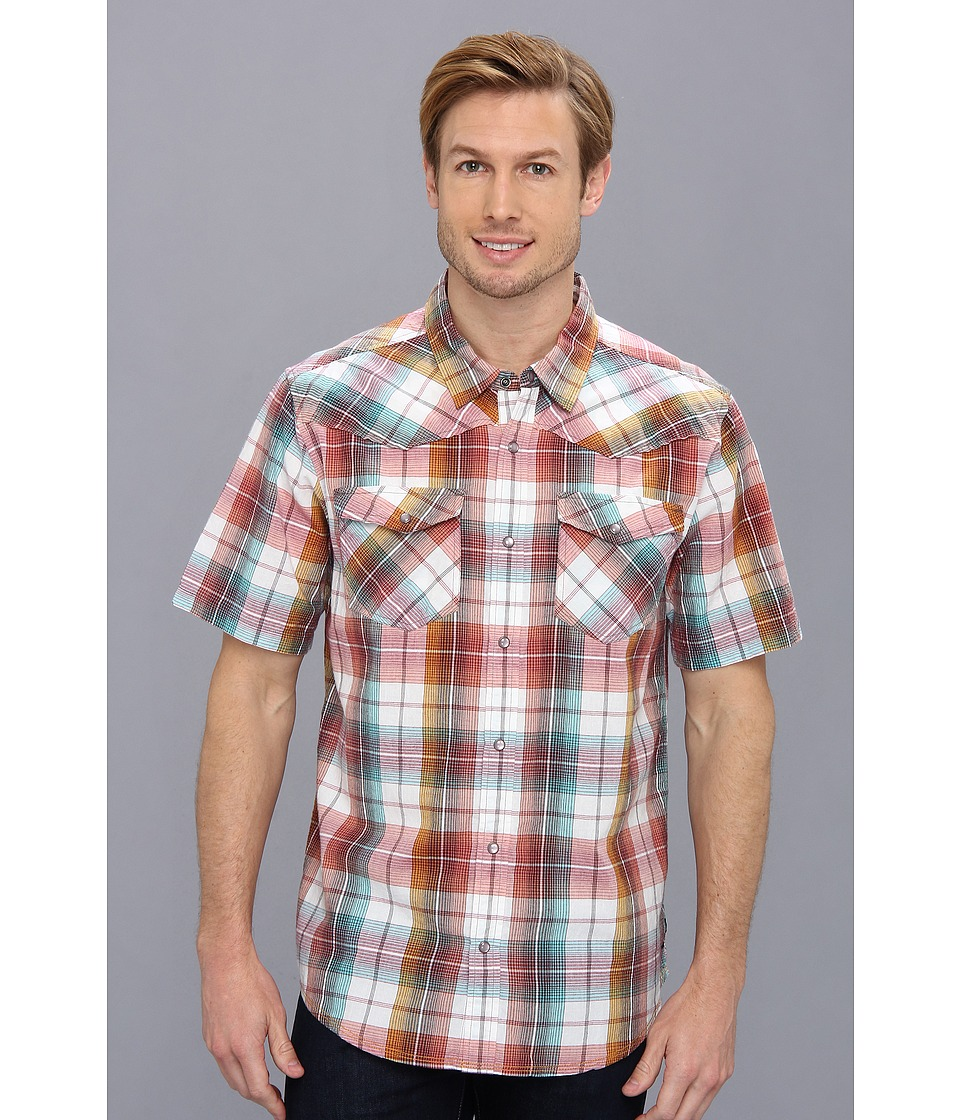 Prana S-S Hartman Shirt Raisin Mens Short Sleeve Button Up