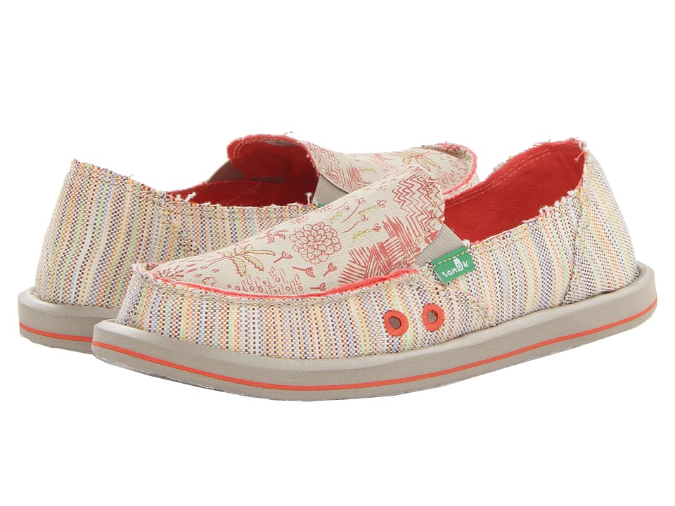 Sanuk - Scribble (Tropical) Women's Skate Shoes