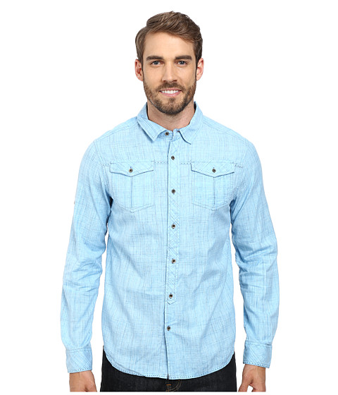 Prana - Rollin Shirt (Sapphire) Men's Short Sleeve Button Up