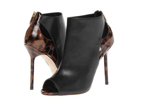 Sergio Rossi - Moon (Nero/Dark Brown Leather) High Heels