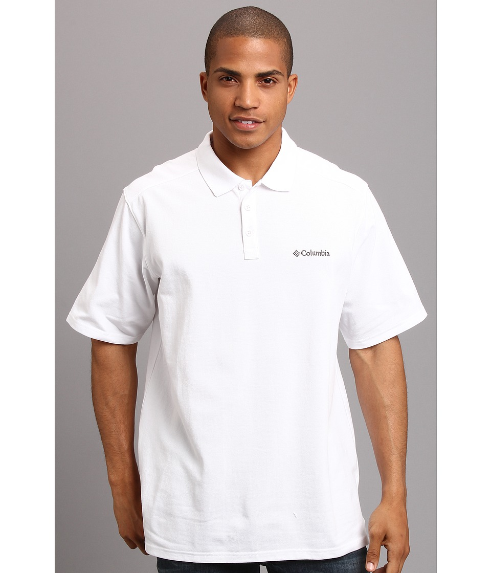 Columbia Elm Creek Polo White Mens Short Sleeve Knit