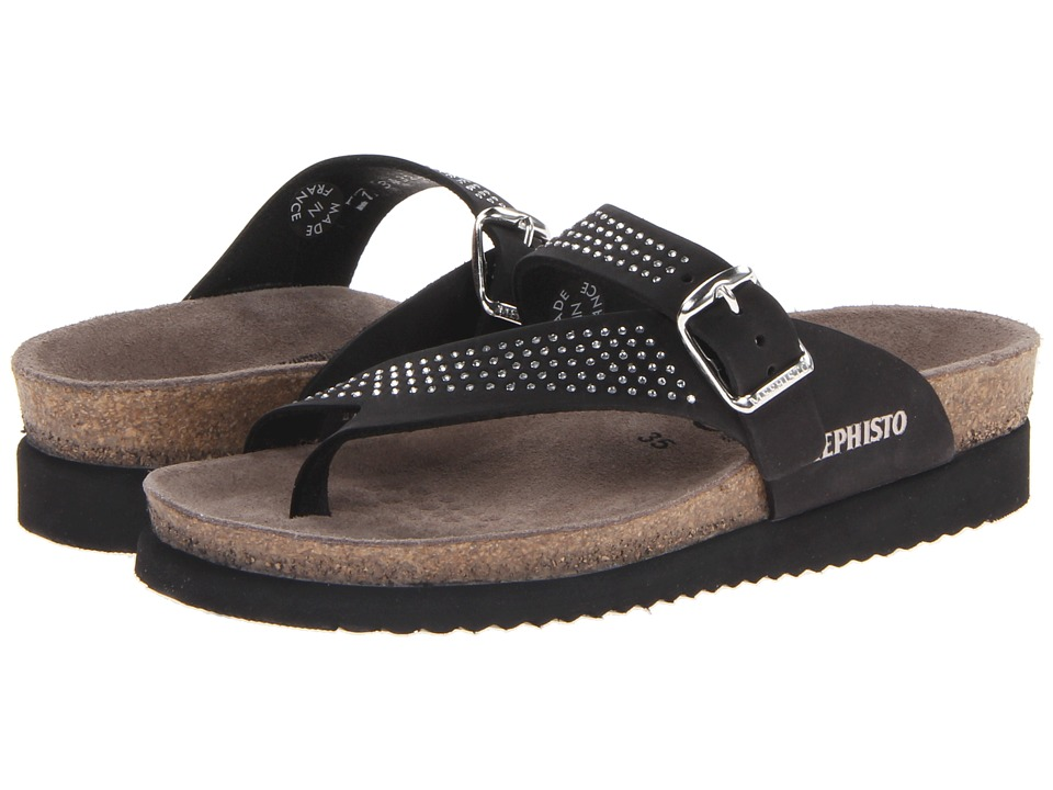 Mephisto - Helen Sparkling (Black Nubuck) Women's Sandals