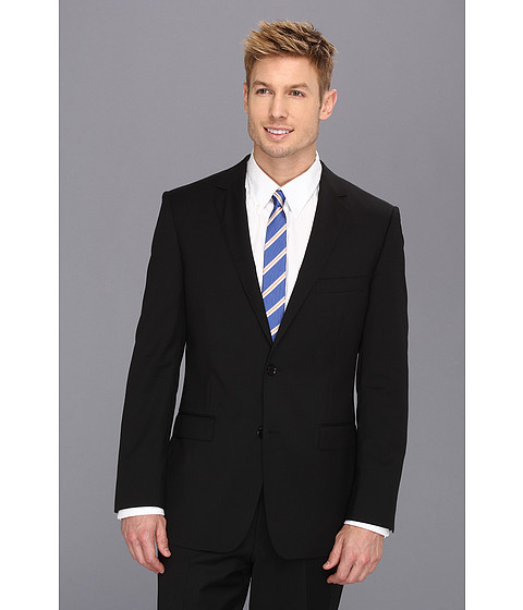 DKNY - Black Plain Jacket (Black) Men's Jacket