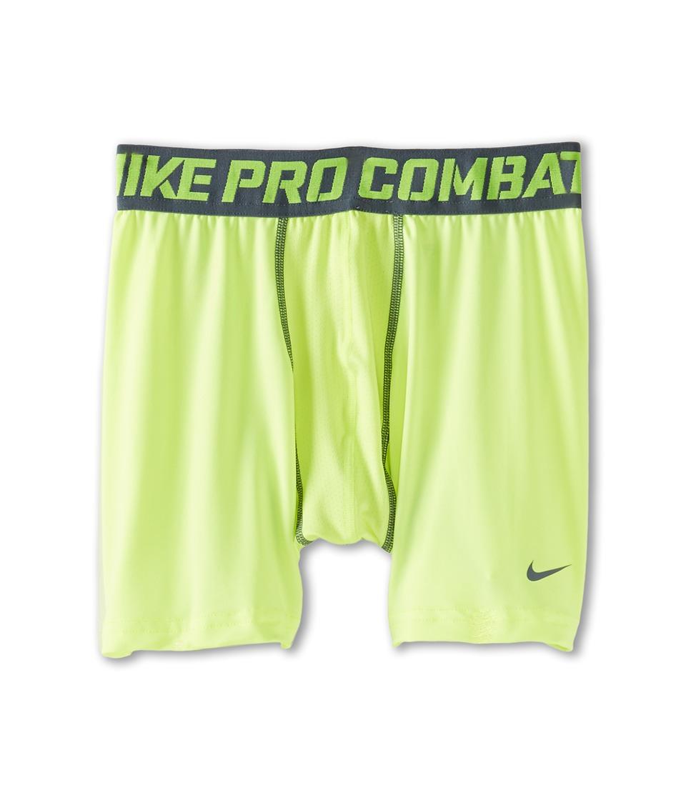 Nike Kids - Pro Combat Core Comp Short (Big Kids) (Volt/Armory Slate) Boy's Shorts