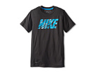 Nike Kids Hyper Speed S/S GFX 1 Top (Little Kids/Big Kids) (Anthracite/Vivid Blue)