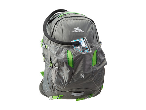 High Sierra - Riptide 25L Hydration Pack (Charcoal/Kelly) Backpack Bags
