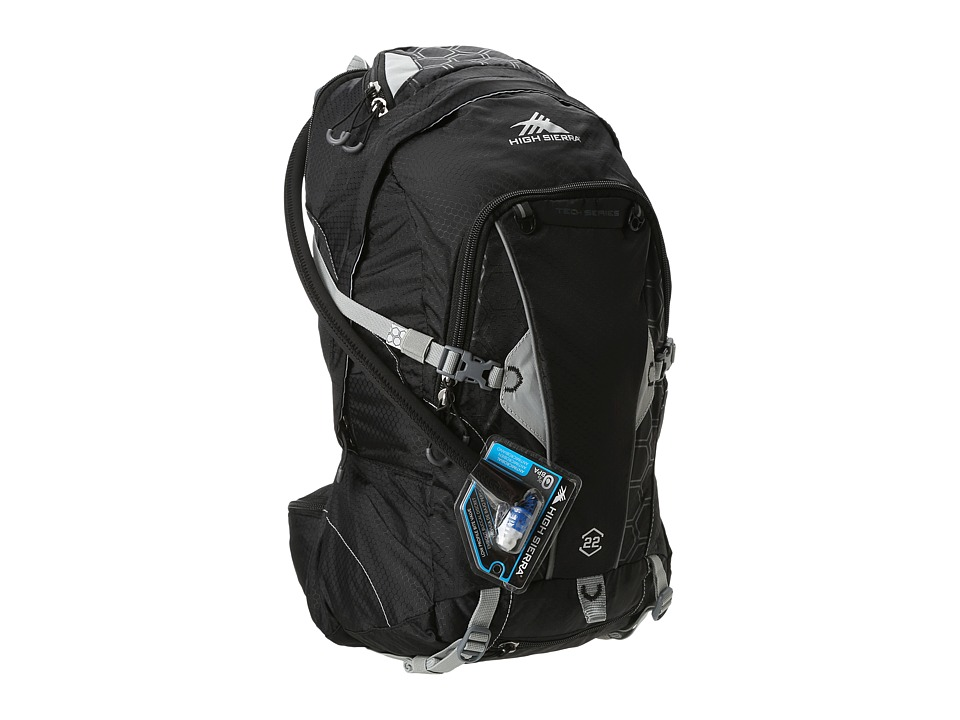 High Sierra - Moray 22L Hydration Pack (Black/Silver) Luggage