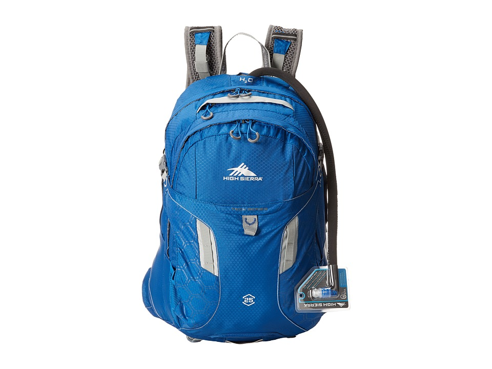 High Sierra - Riptide 25L Hydration Pack (Royal Cobalt/Silver) Backpack Bags