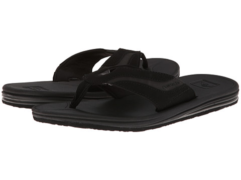 Quiksilver - Fleet (Black/Grey) Men's Sandals