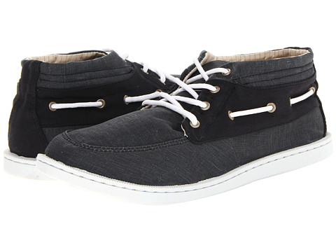 Quiksilver - Surfside Mid 2 '14 (Black/White) Men's Lace up casual Shoes