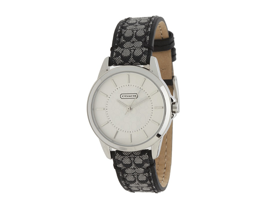 COACH - Classic Signature Strap Watch (Silver/Black) Watches