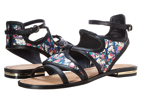 Rebecca Minkoff - Simon (Multi Floral Print Leather/Black Lux Calf) Women's Sandals