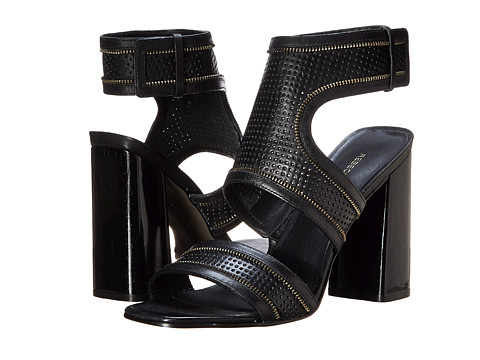Rebecca Minkoff - Parker 100mm (Black Eco Leather Perf) High Heels