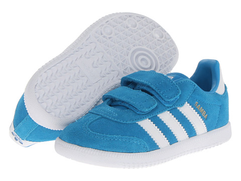 adidas Originals Kids - Samba 2 (Toddler) (Solar Blue/White/Bluebird) Kid