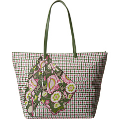 SALE! $54.99 - Save $33 on Vera Bradley Double Take Tote (Olivia Pink With Olive Trim) Bags and Luggage - 37.51% OFF $88.00
