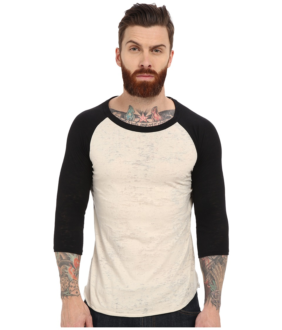 Alternative - Big League Burnout Baseball Tee (Natural/Black) Men's T Shirt
