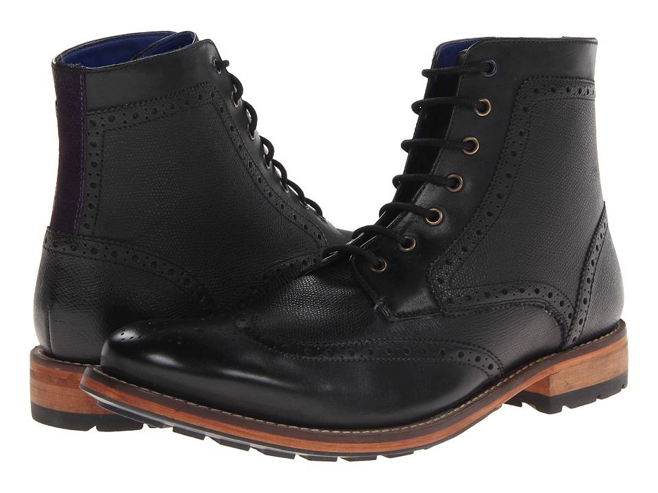 Ted Baker - Sealls 2 (Black Leather) Men's Shoes