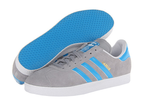adidas Originals - Gazelle (Mid Cinder/Solar Blue/White) Classic Shoes
