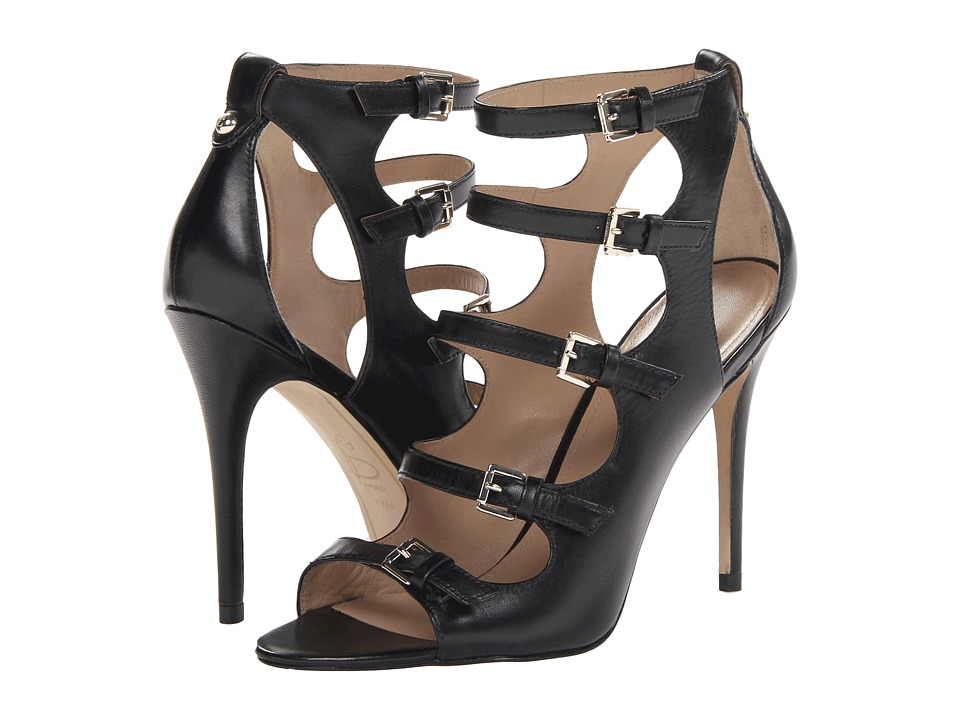 Joan & David - Novara (Black Leather) High Heels
